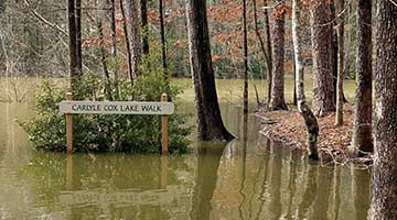 Lanier flirts with record water levels