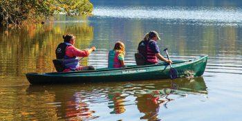 Canoeing on Lake Rutledge