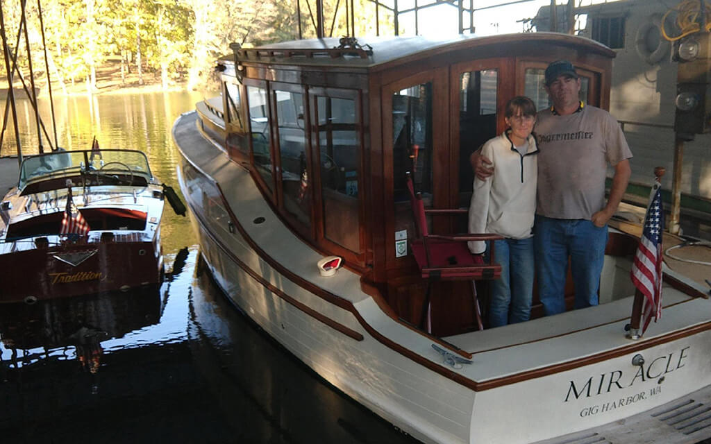 Older is better when it comes to boats for Katie and Taylor Grimsley