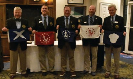 Change of watch at University Yacht Club; New officers installed