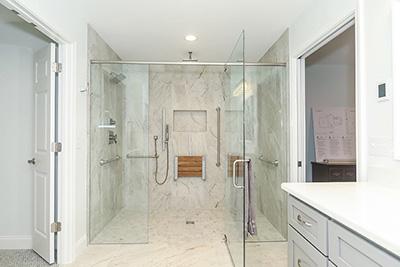 Roomy walk-in shower design
