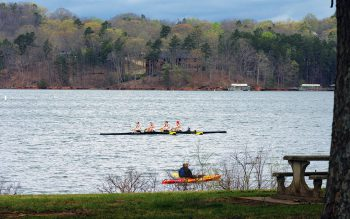 Rowers on Lake Lanier, pre-COVID