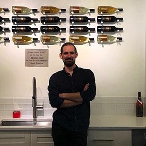 Tyler Vanhoff in Accent Cellars tasting room