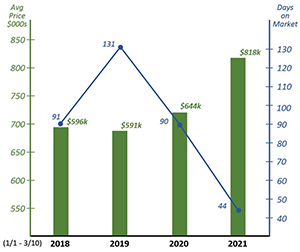 2018 - 2021 Real Estate Sales graphic
