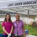 Executive Director, Jennifer Flowers with Bonny Putney, both with Lake Lanier Association