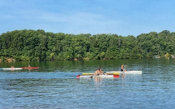 Kayakers on Lake Lanier