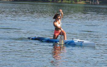 Nevin Harrison, in kayak on Lake Lanier