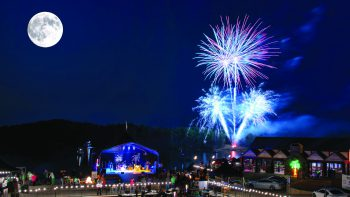 Fireworks over Lake Lanier, Margaritaville