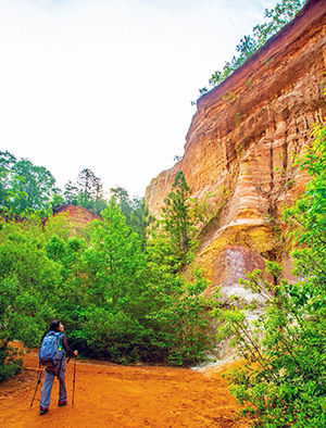 Linda Lee hiking in Providence Canyon