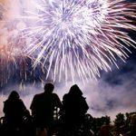 Fireworks over Laurel Park, Gainesville