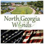 North Georgia Winds patriotic concert logo