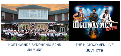 Arts Council Concert images for July, Northwinds Symphonic Band and The Highwaymen Live