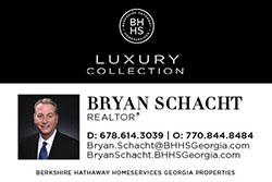Bryan Schacht, Realtor Business card ad