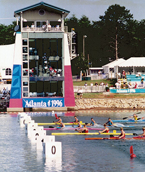 1996 Olympic Rowing event finish line