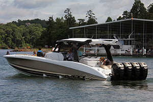 Motor boat with 4 engines