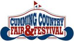 Cumming Country Fair and Festival red and blue logo