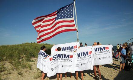 Mom honors daughter in Swim Across America